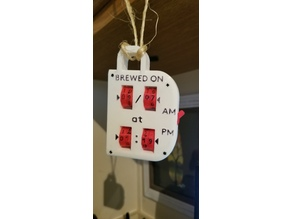 Adjustable Coffee Brew Time Tag