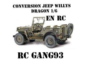Kit conversion jeep DRAGON 1/6 en RC (chassis EXREAL)
