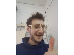 glasses with living hinge lasercut