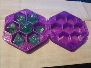 Print in place hinged dice case