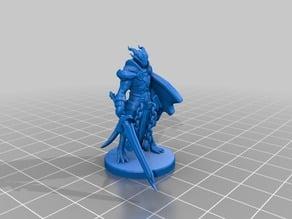 Dragonborn Paladin Miniature (Helmetless)