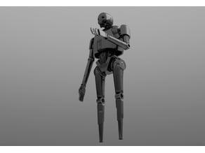 Robot lower leg inspired by K2SO