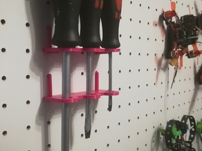 Customizable Pegboard Screwdriver Holder
