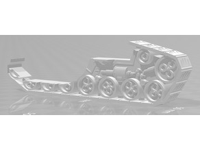 New crawler tank side track with detail