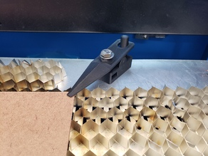 Laser cutter magnetic hold down clamp