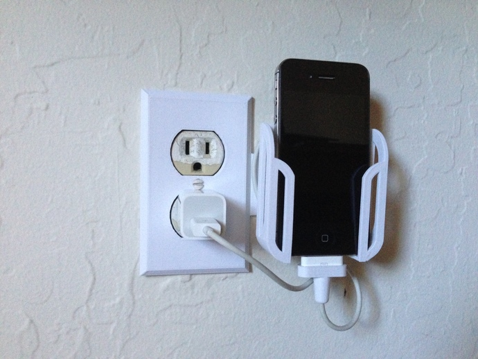 Smartphone Outlet wall outlet smartphone dock v2rubb3rtoe - thingiverse