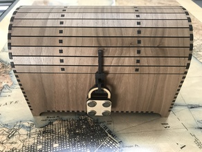 Treasure Chest with Hasp and dummy padlock - for Glowforge