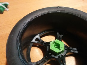 RC Wheel Adapter 1:10 to 1:8 Wheel Hex