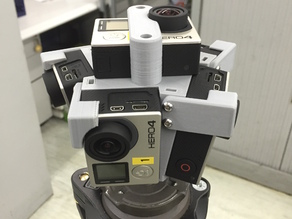 360 Video Rig for 6 GoPro Hero4