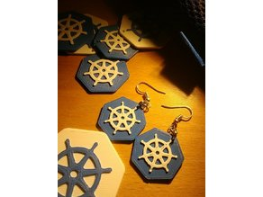 Kubernetes Earrings