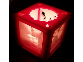 Lithophane tealight holder