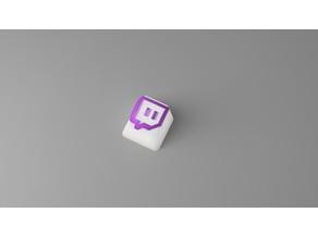 Twitch Logo Cherry MX Keycap