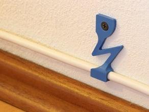 Power calbe wall mount