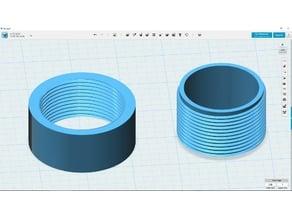 BSP 1.5 inch internal and external; thread