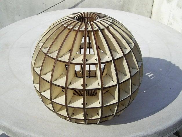 Globe Lasercut By Ricklaser Thingiverse