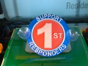 First Responders Support Plaque