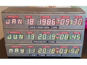 Back to the Future Time circuit Delorean replica prop