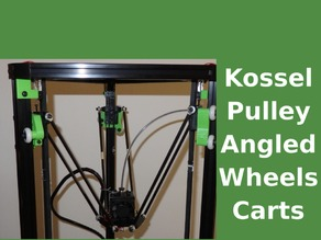 Kossel - angled wheels carts upgrade 2020