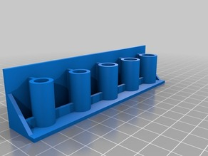 regular flat screw driver holder( OpenSCAD Parametric ) With Mounting Holes