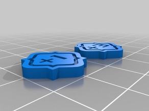 Keyforge Tokens (Double Sided)