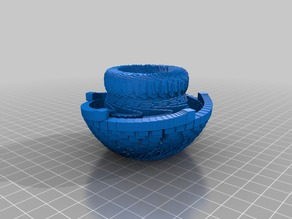 Bowl, Flower, maths shape, trial, openscad ???