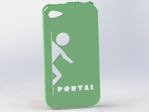 Portal themed iphone 4s case
