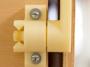 Locking Door Latch for Heated Enclosure