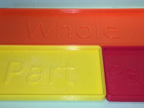 Parts and Wholes - Bar Model Trays for Manipulatives