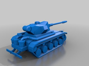 Low poly lasher tank