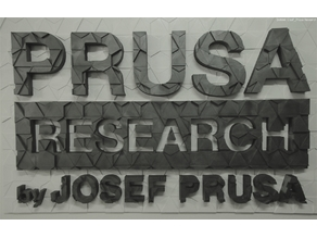 PRUSA RESEARCH WALL LOGO MOSAIC