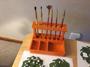Miniature Paint Brush Stand / Organization Tray