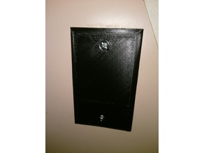 Blank wall outlet plate (US)
