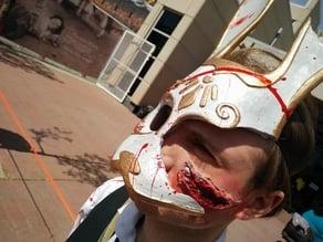 Damaged Splicer Bunny Mask from Bioshock 2