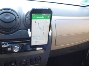 Wireless car phone charger arms for big smartphones