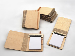 Folding Wood Booklet