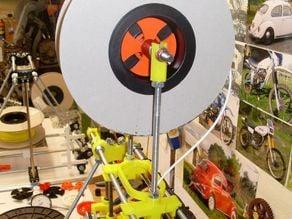 Mendel Prusa quick change filament spool