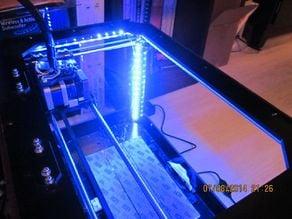 LED Strip Diagonal Positioned Corner Bracket for 3D Print Enclosure