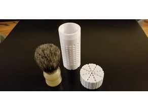 "Omega ""midget"" shave brush travel container"