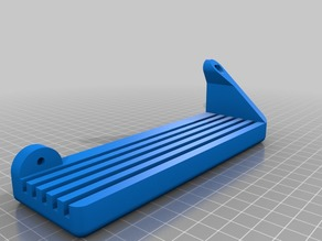 Support mount for glass bed plate storage