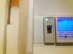 Obturator electric panel 1 DIN