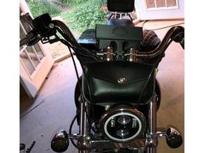 iphone 8 plus w bumper case motorcycle handlebar mount