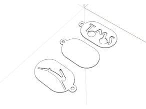 Tomos oval keychain