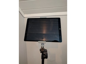 """Ipad pro 12.9"""" holder to Manfrotto MH293A3-RC1"""