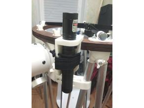 Adjustable laser point holder for telescope