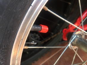Tire Valve Cap, a bit smaller for you to twist and adjust better.