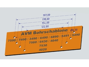 AVM Bohrschablone