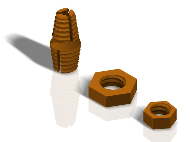 """Improved 5mm to 3/8""""  z-Axis Coupling for Printrbot Plus"""