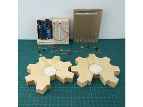 Open Source Hardware tealight candle holder