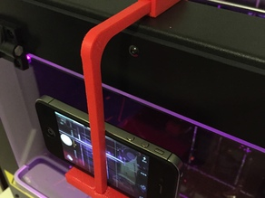 Fully Adjustable iPhone/ WebCam Mount for Flashforge/ Makerbot