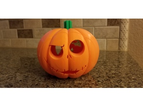 Jack O'Lantern with Snap On Faces